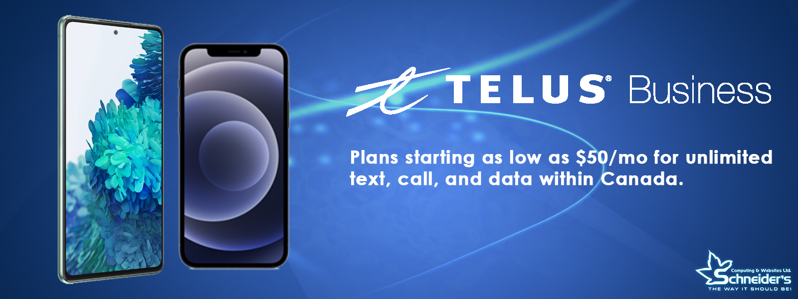 Website Banner Telus Plans
