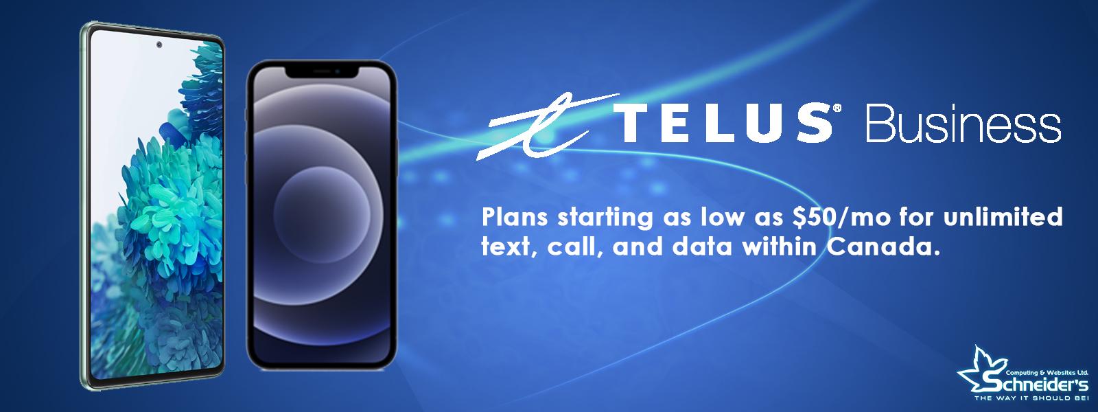 Website Banner Telus Plans